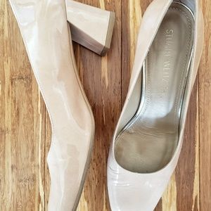 Stuart Weitzman Women Nude Patent Leather Mary Mid